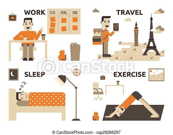 praca, życie, waga - csp29266297