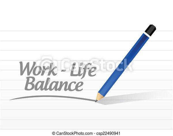 praca, życie, waga, wiadomość - csp22490941