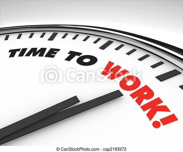 praca, -, czasowy zegar - csp2193972
