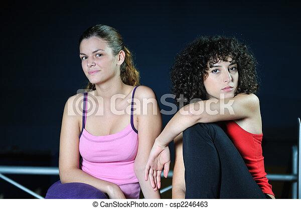 praca, kobiety, klub, poza, stosowność, dwa - csp2246463