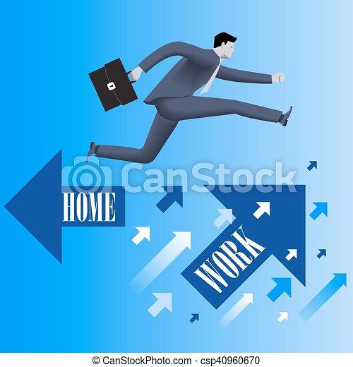 praca, waga, życie, pojęcie, handlowy - csp40960670