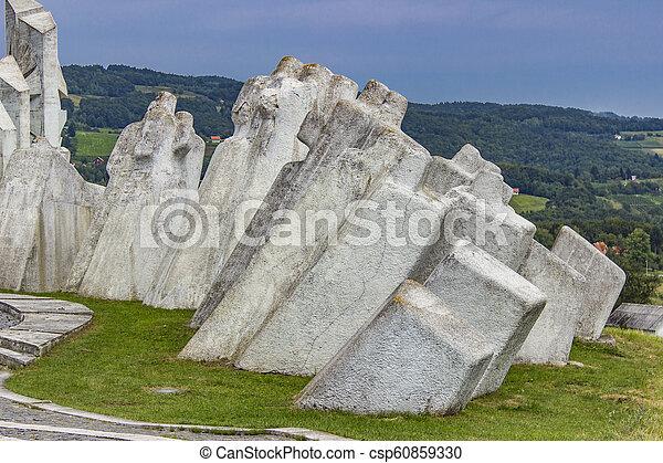 pracownicy, serbia, wojownicy, kadinjaca, pomnik, batalion - csp60859330
