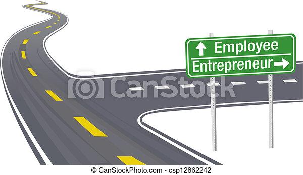 pracownik, przedsiębiorca, decyzja, handlowy znaczą - csp12862242