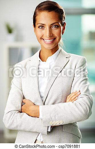 pracownik, szczęśliwy - csp7091881