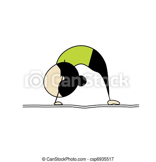 Mujer practicando yoga - csp6935517