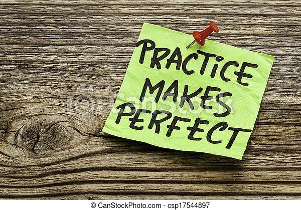 practice makes perfect  - csp17544897