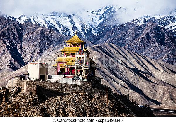 pradesh, ladakh, inde, indien, himachal, himalaya - csp16493345