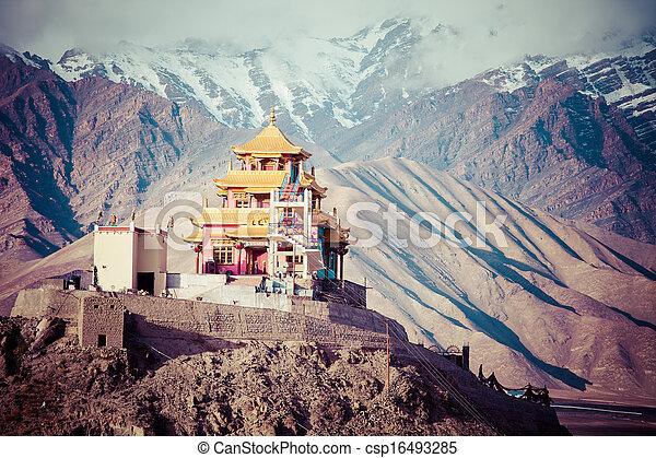 pradesh, ladakh, indie, indianin, himachal, himalaje - csp16493285