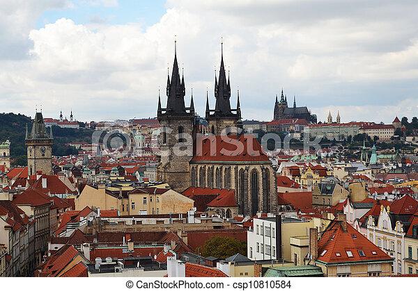 Prague aerial view - csp10810584