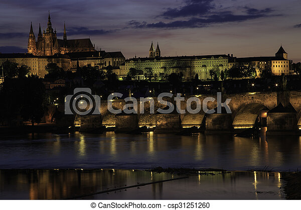 Prague Castle Sunset2 - csp31251260