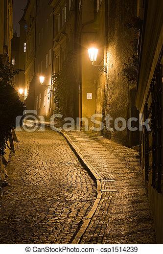 Prague night scenery - csp1514239