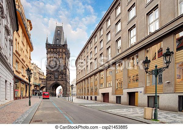 Prague - Powder tower - csp21453885