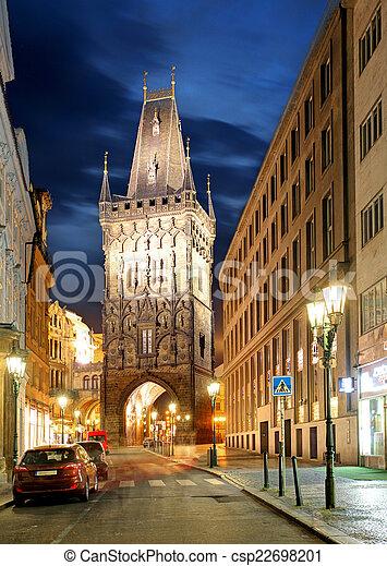 Prague - Powder tower - csp22698201