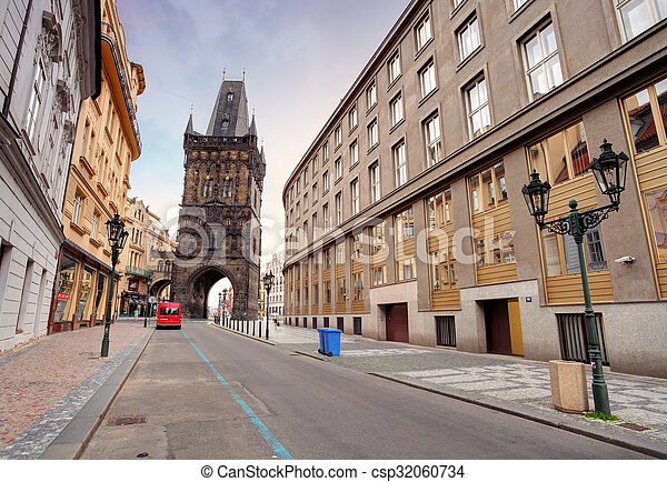 Prague - Powder tower - csp32060734
