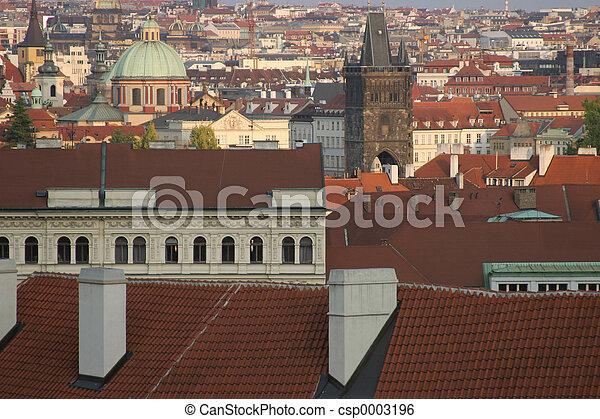 Prague roof view - csp0003196