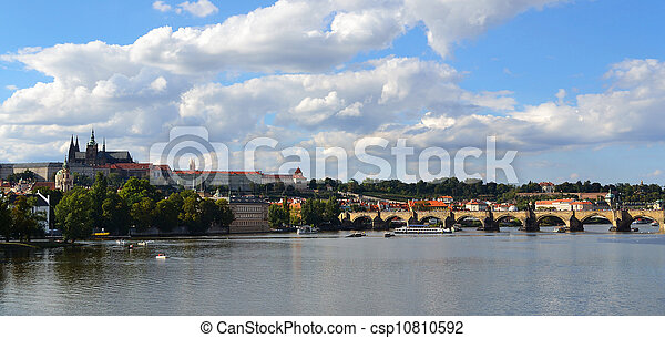 Prague - view with Vltava River - csp10810592