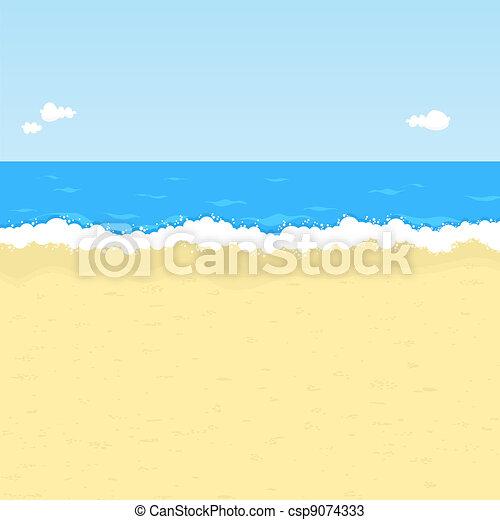 praia, caricatura - csp9074333