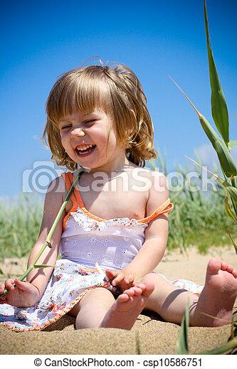 praia, criança - csp10586751