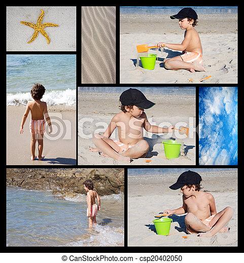 praia, criança - csp20402050