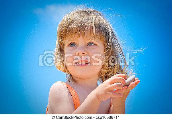 praia, criança - csp10586711