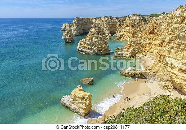 Praia da Marinha near Lagoa, in Algarve, Portugal - csp20811177