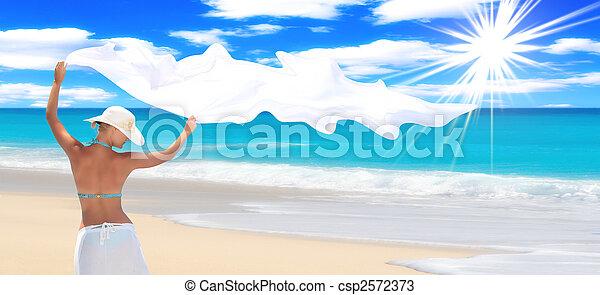 praia, deslumbrante - csp2572373