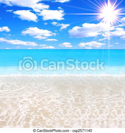 praia, deslumbrante - csp2571140
