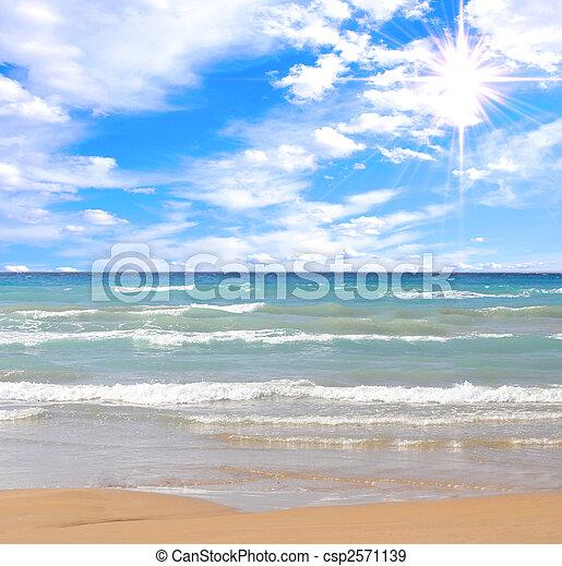 praia, deslumbrante - csp2571139