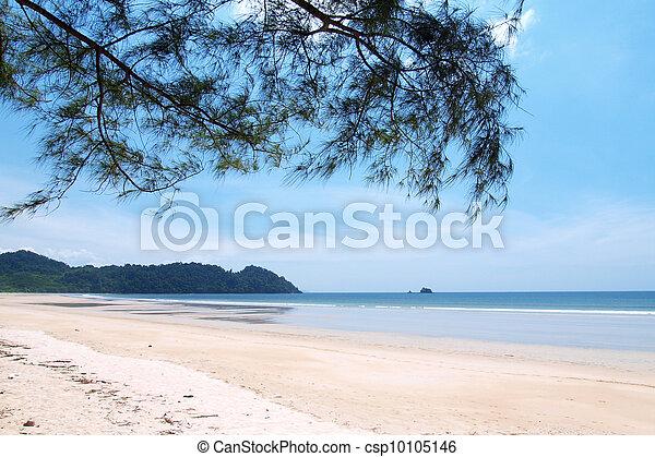 praia, longo - csp10105146