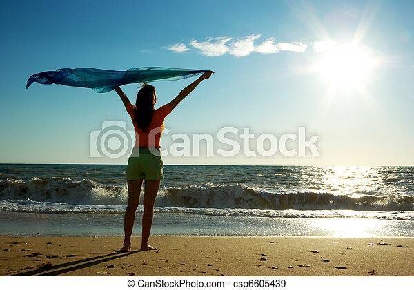 praia, relaxe - csp6605439