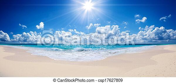 praia tropical, -, paisagem, mar - csp17627809