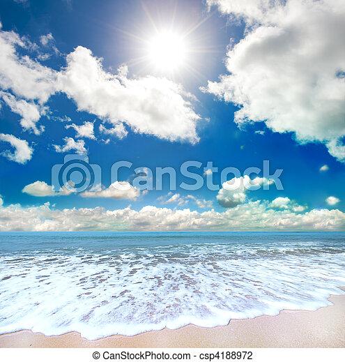 praia, verão - csp4188972