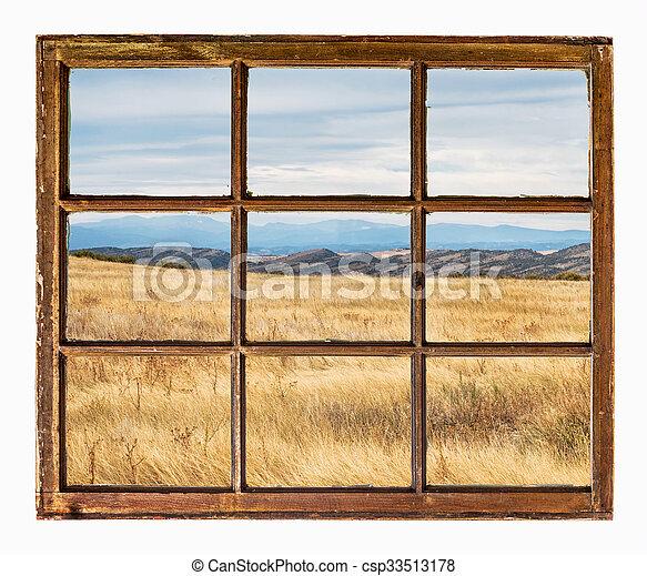 prairie at Colorado foothills abstract - csp33513178