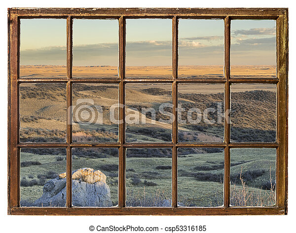 prairie at Colorado foothills abstract - csp53316185
