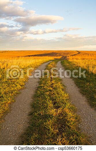 prairie, chemin, wah'kon-tah - csp53660175