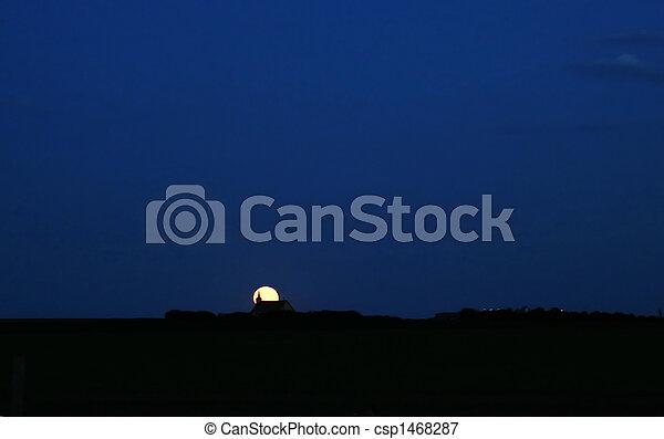 Prairie Church at Night - csp1468287