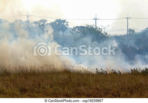 prairie fire  - csp18239867