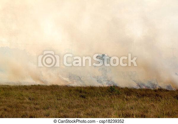 prairie fire  - csp18239352