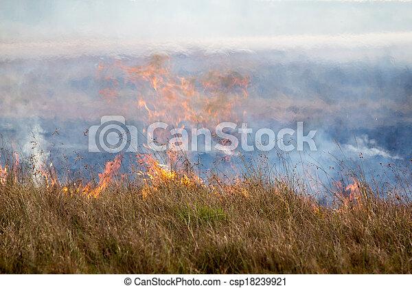 prairie fire  - csp18239921