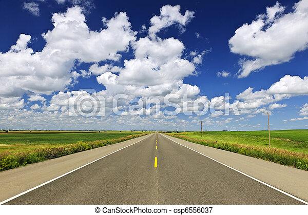 Prairie highway - csp6556037