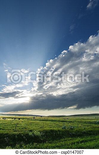 Prairie Sky Landscape - csp0147007