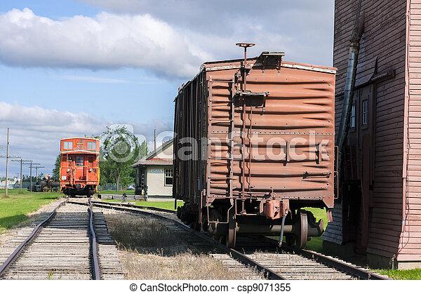 Prairie Train Station - csp9071355