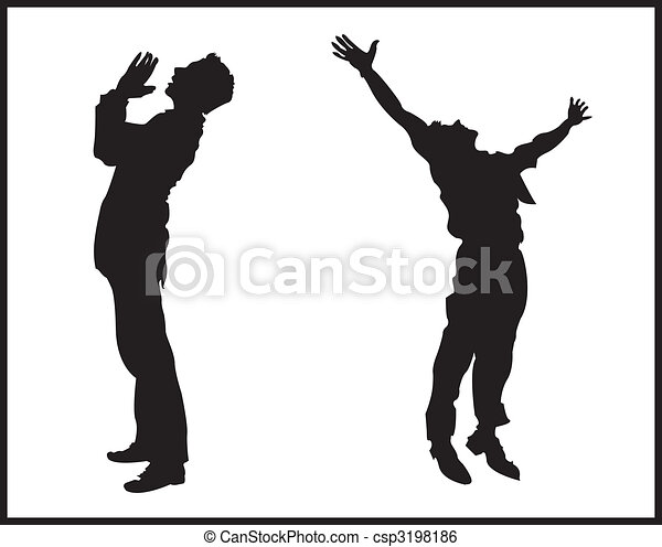 praise two men praising god clip art vector search drawings and rh canstockphoto ca praise clip art images praise clip art free religious