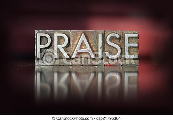 Praise Letterpress - csp21795364