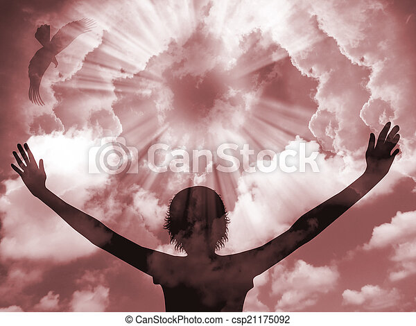 Praise Silhouette - csp21175092