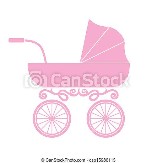 Pram - baby carriage - csp15986113