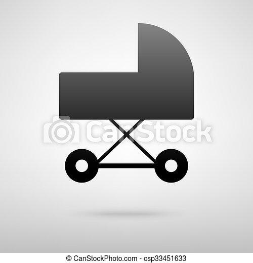 Pram black icon - csp33451633