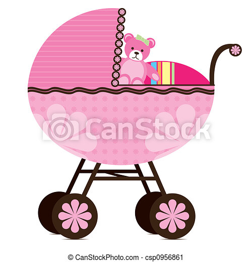 Pram for Baby Girl - csp0956861