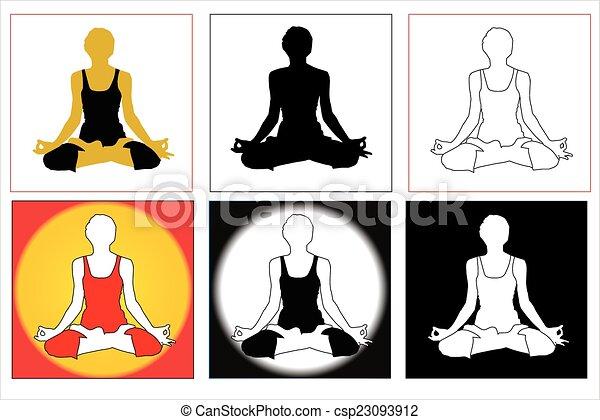 Pranayam Yoga Posture A Symbol Of With Colorful