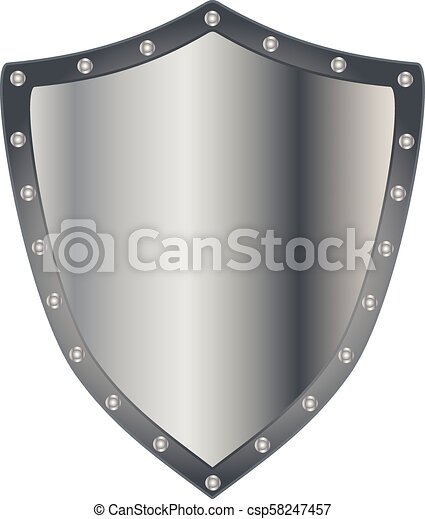 prata, escudo - csp58247457
